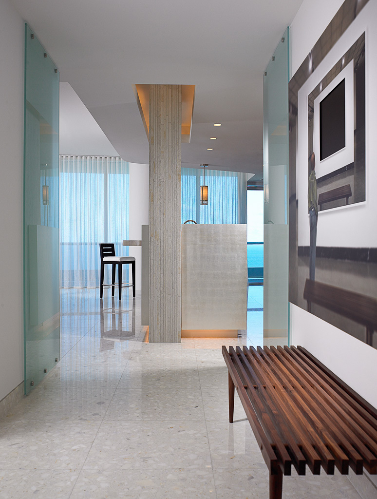 Foyer Hallway Florida : Continuum i miami beach fl allen saunders inc