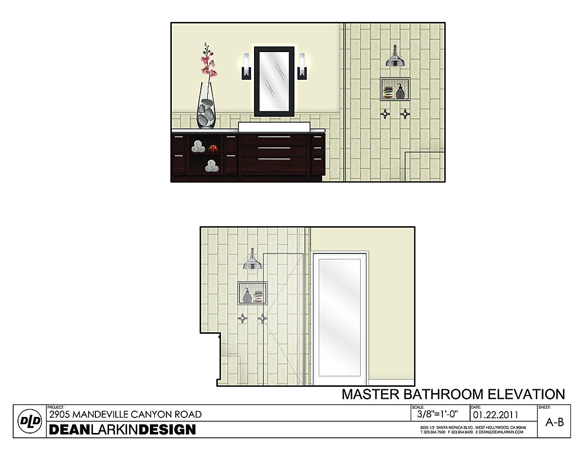 Master Bathroom - elevation