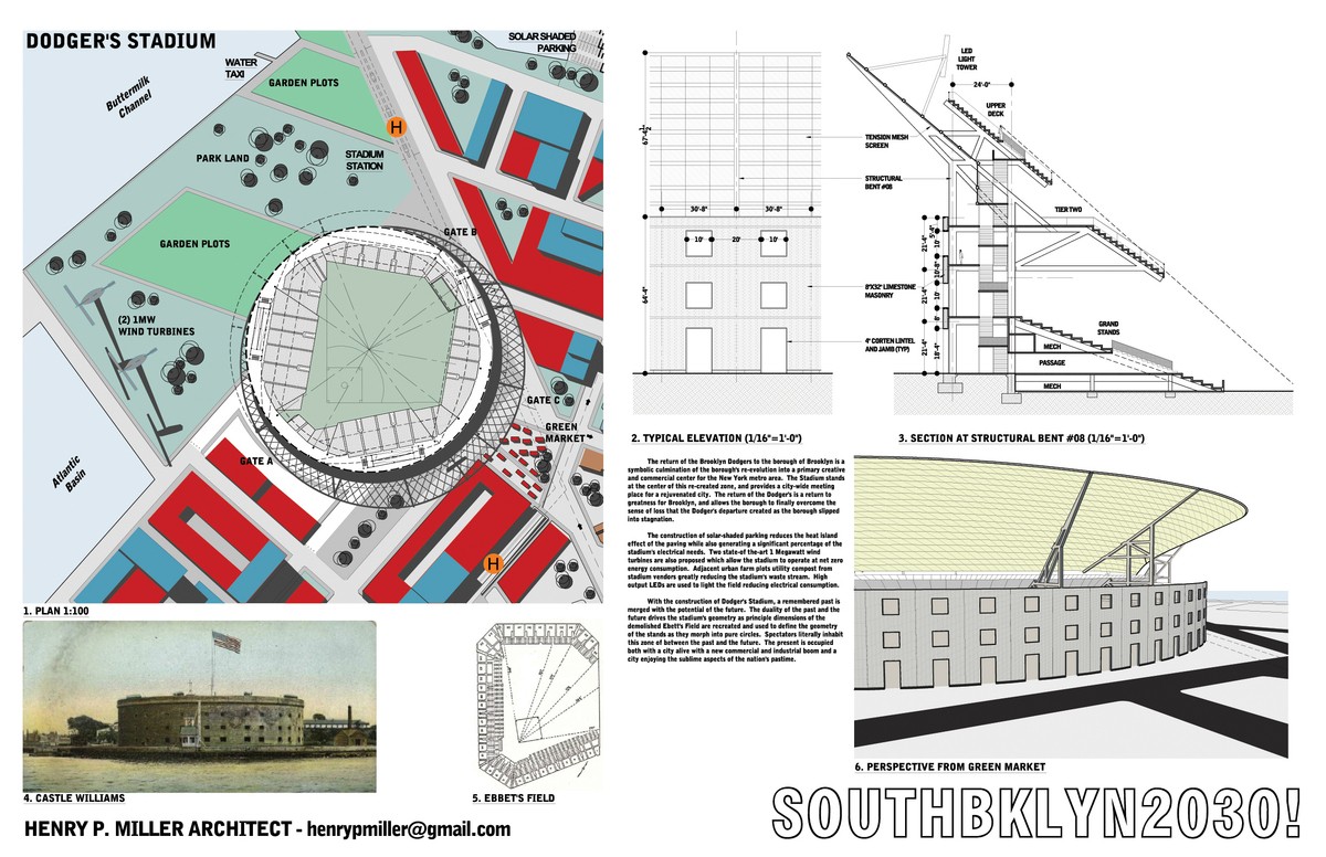 Dodgers Stadium Drawings