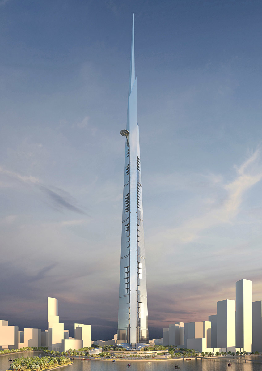 Visualization of Kingdom Tower Jeddah, Saudi Arabia (Image: Adrian Smith + Gordon Gill Architecture)