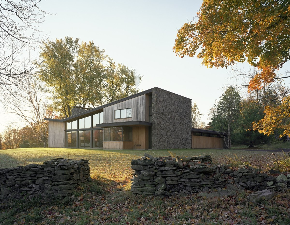 Exterior with Stone Wall