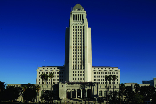 LA's City Hall building designed by John Parkinson.