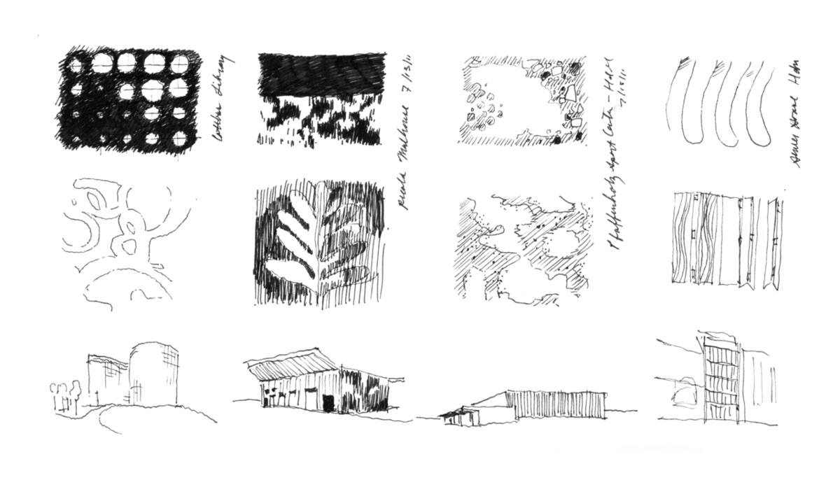 Study of Herzog and de Meuron facades