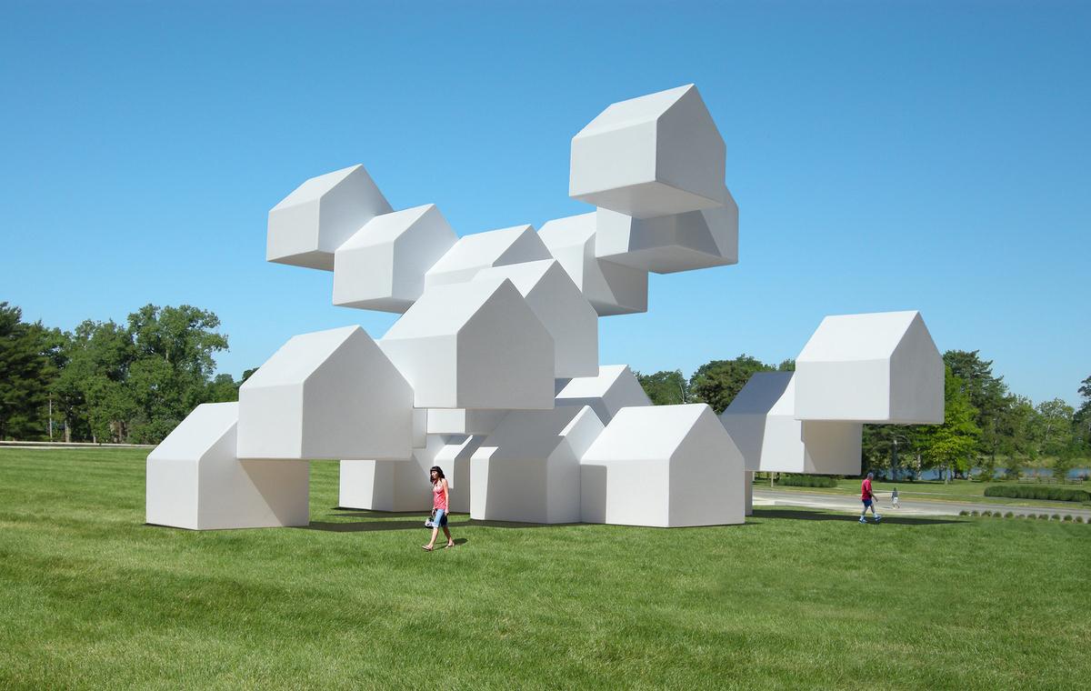 The modular house pavilion a public art installation for Architecture art design
