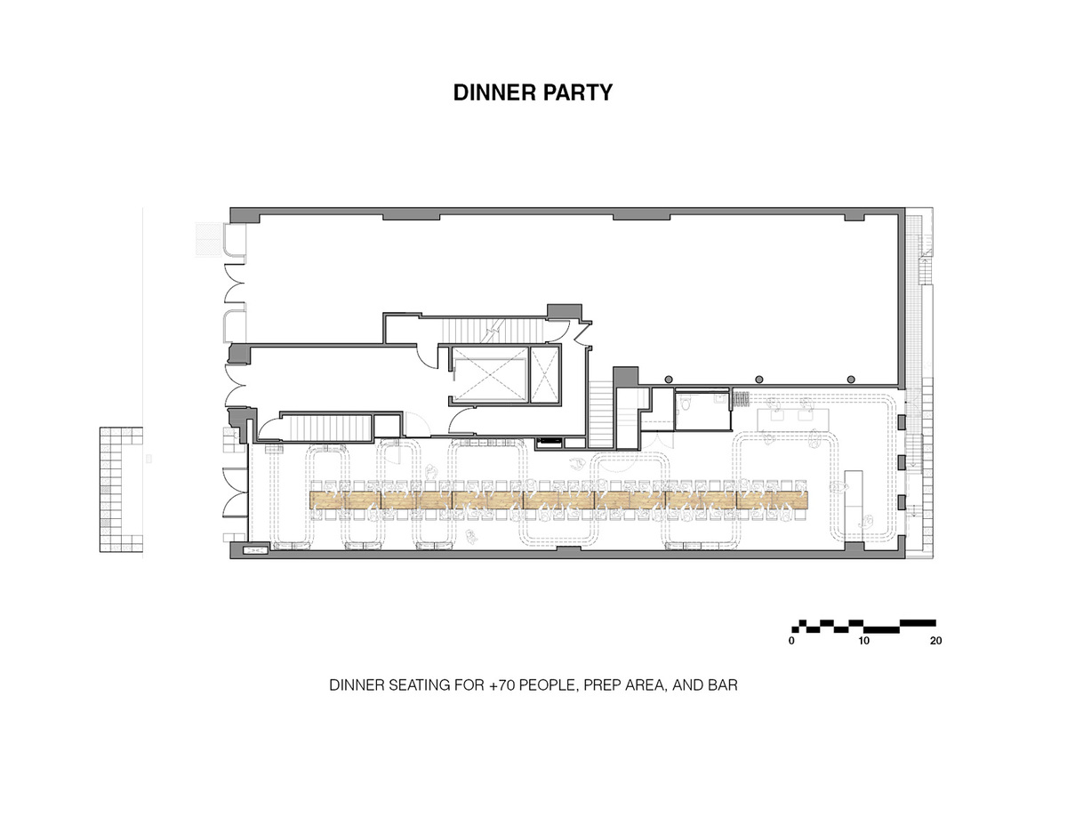 Dinner Party Seating. Ground/Work Competition Finalist Entry by Of Possible Architectures. Image courtesy of OPA.