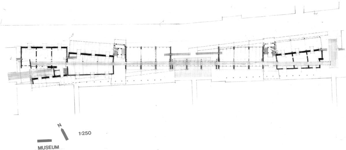 museum, industrial design, Vicenza, Italy. pencil on vellum