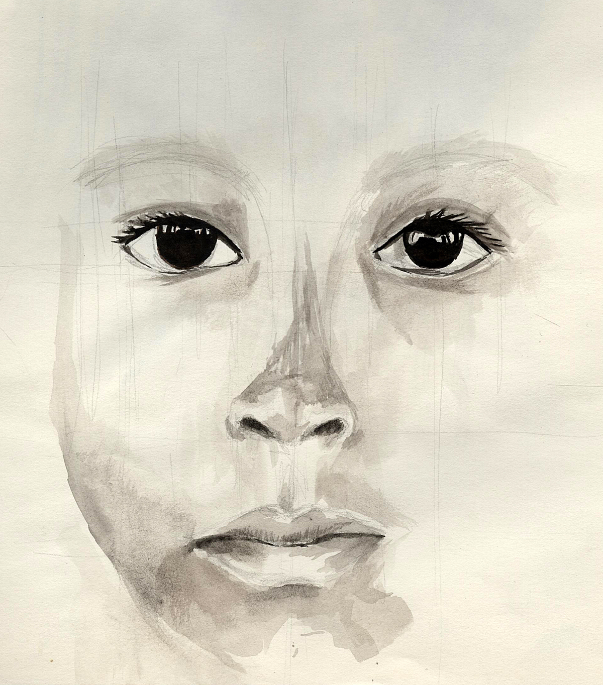 child (water colour)