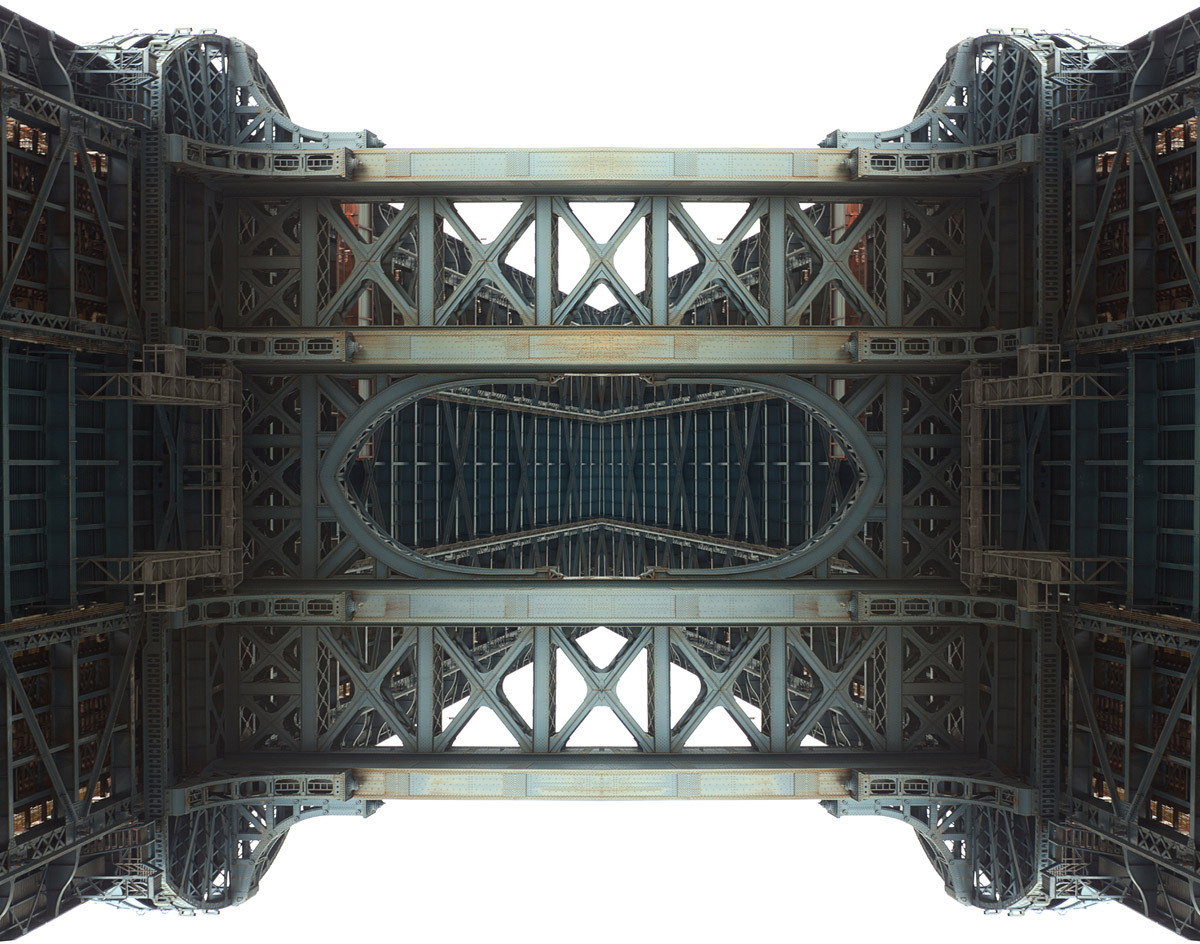 Upside Town Bridge (Manhattan bridge, Brooklyn 2010) © Simon Gardiner