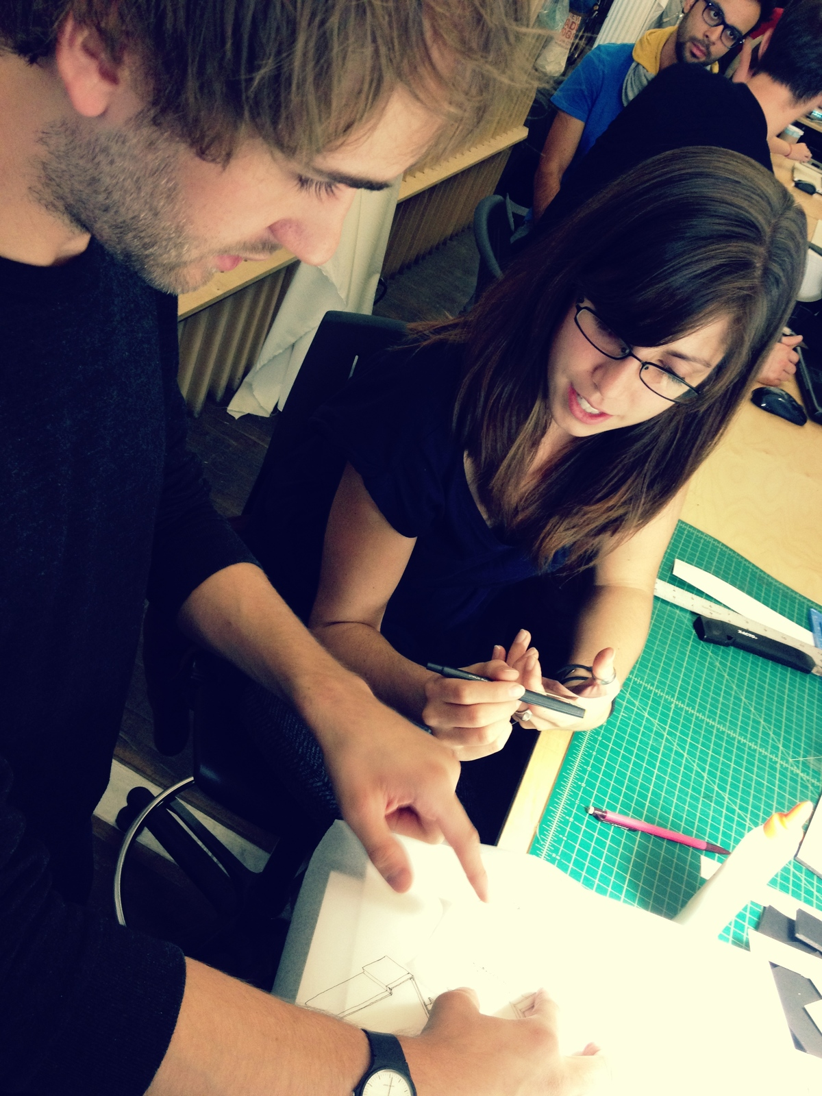 Talking through drawings: Jacinda Ross & Zach Barr