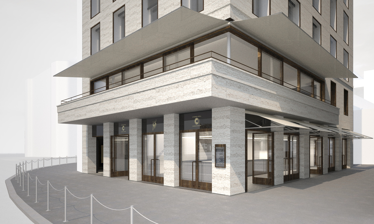 Ground floor entrance visualisation for tender package