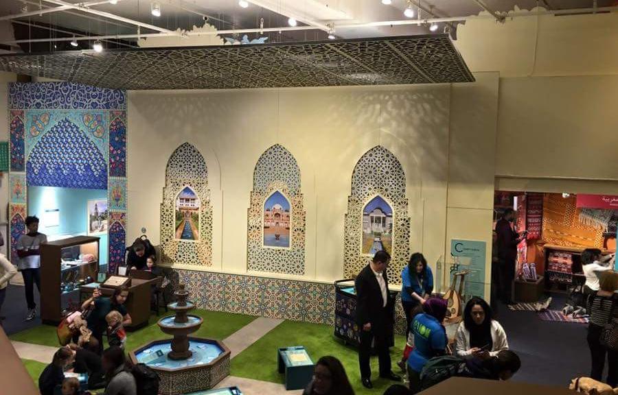 Childrens Museum of Manhattan exhibition design, America to Zanzibar Muslim Cultures Near and Far. Credit: MIIM Designs