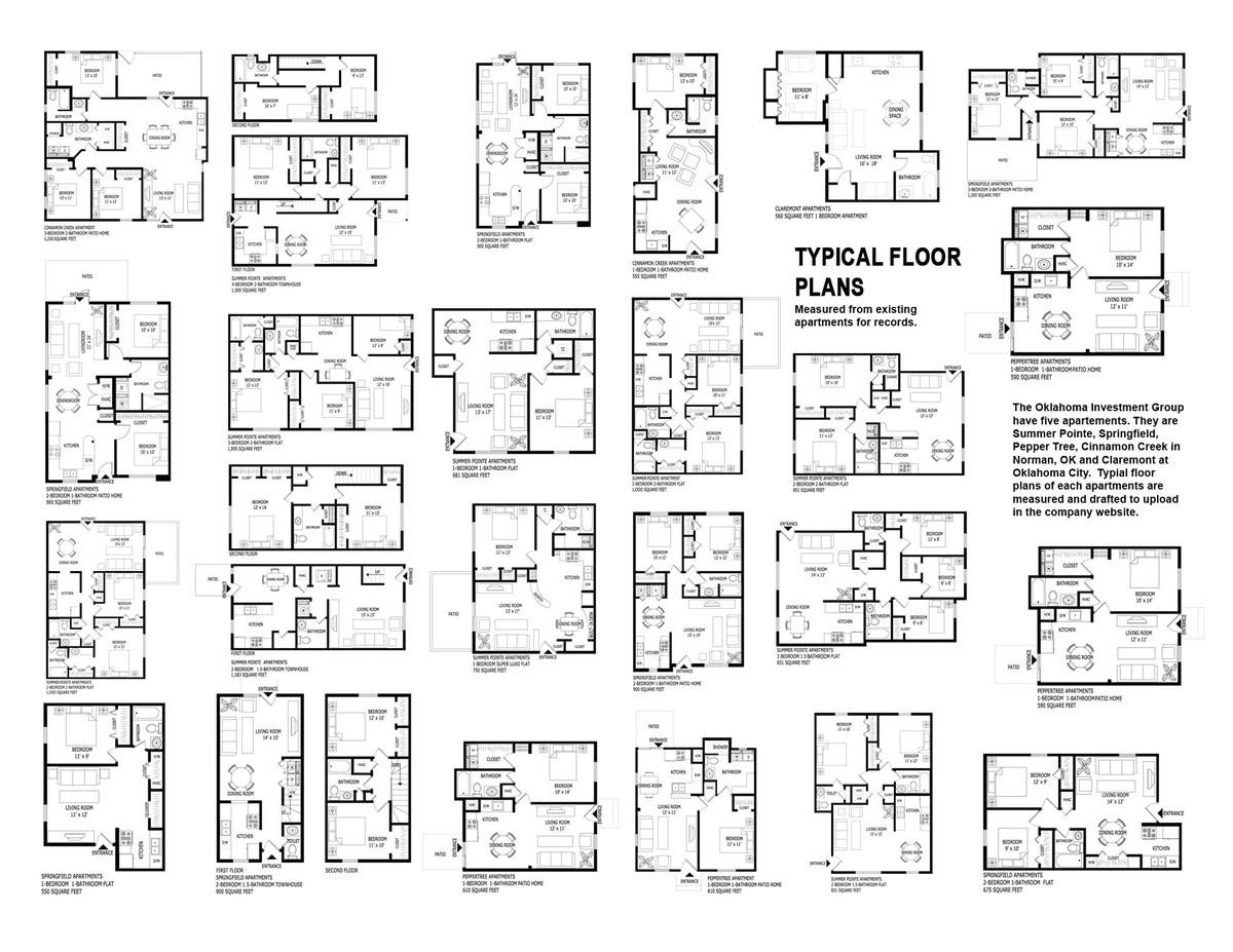The floor plans