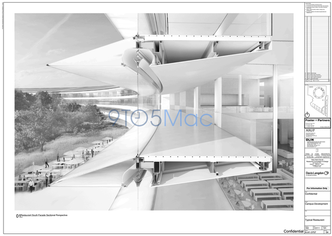 confidential architectural drawings of new Apple HQ