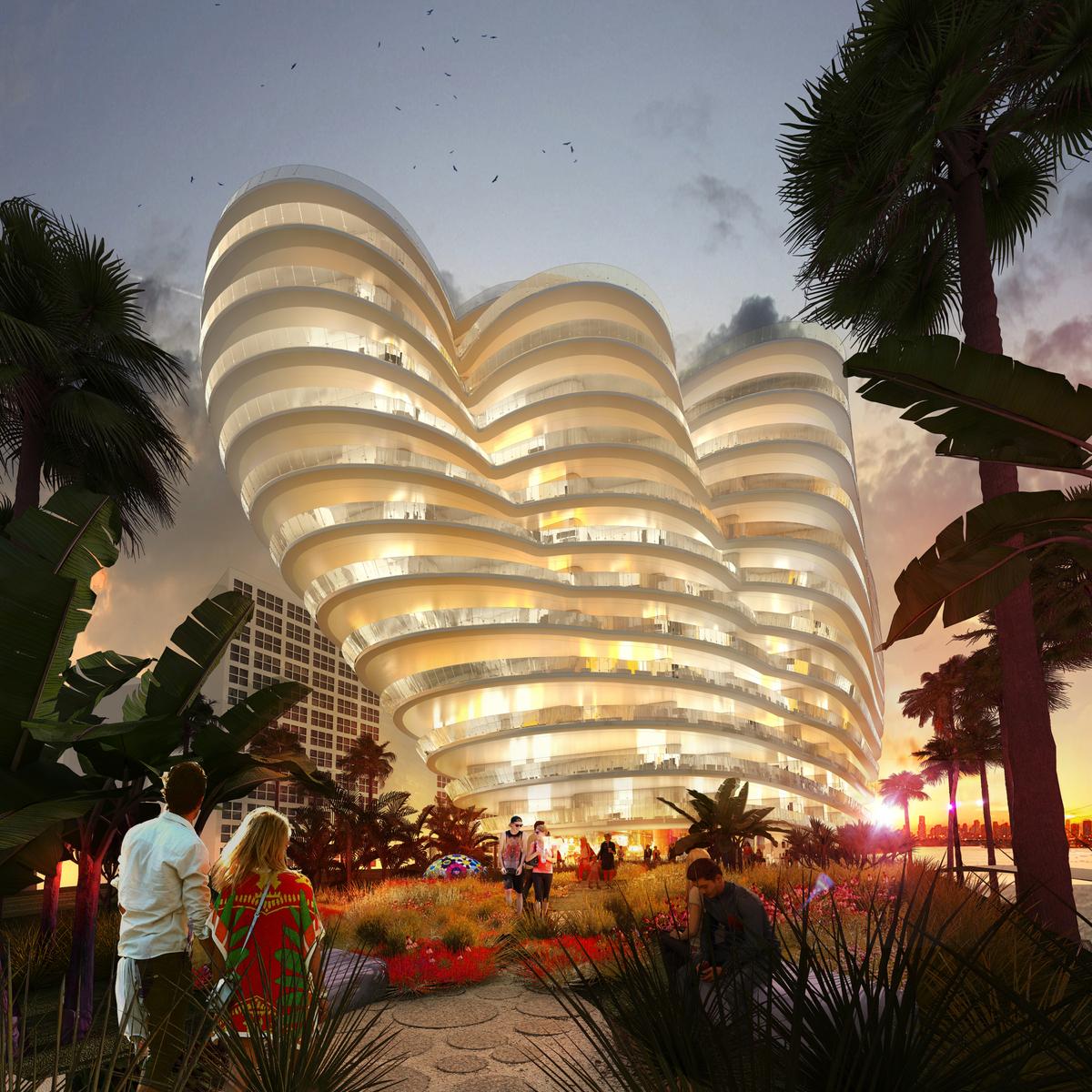 ODA's Monad Terrace in Miami. Image: Labtop