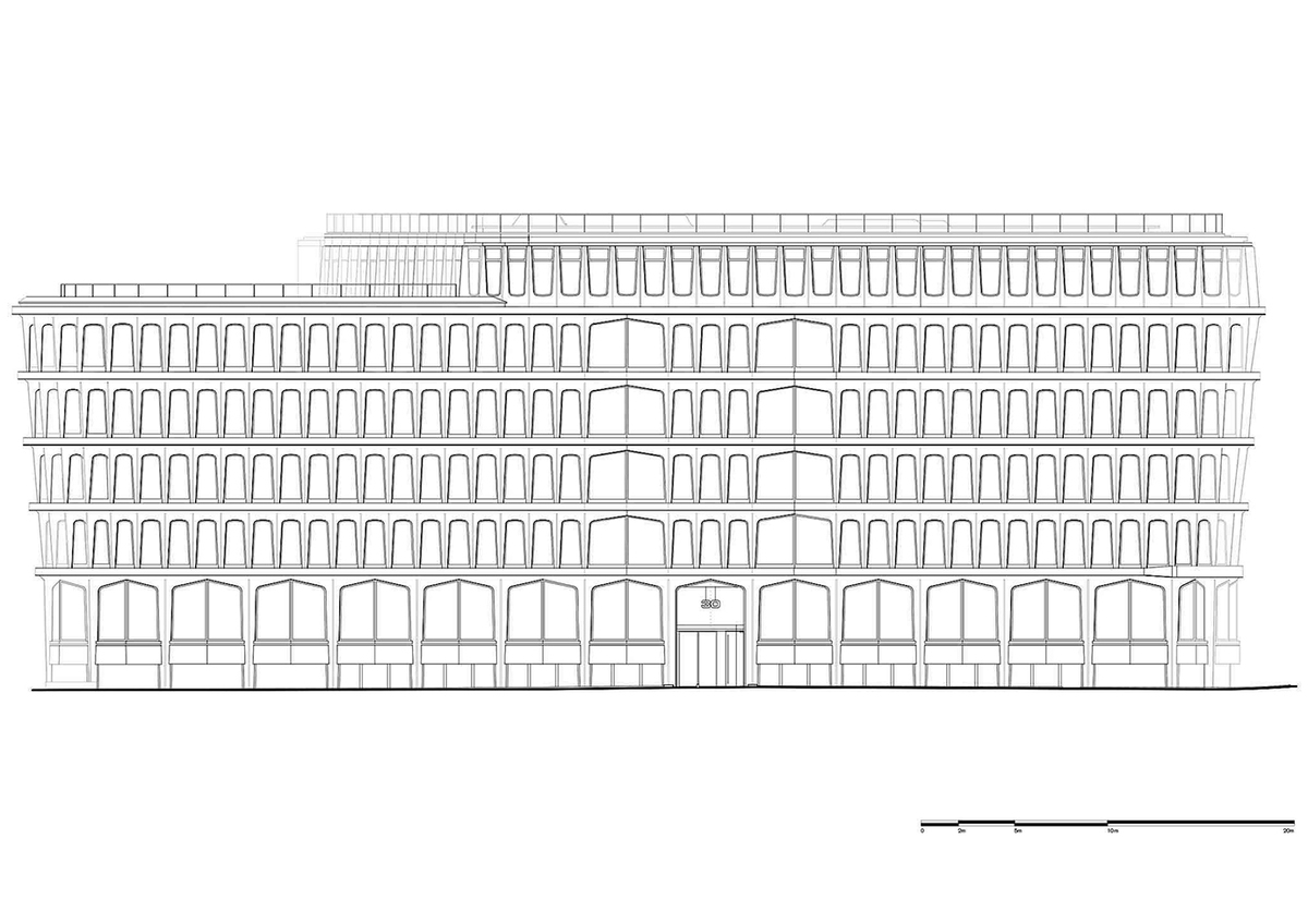 Drawing of the South elevation