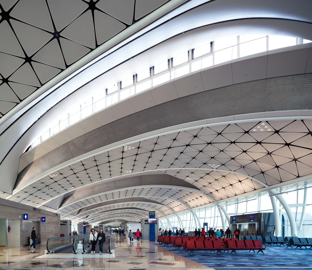 Hong Kong International Airport Midfield Concourse, Hong Kong. Credit: Aedas.