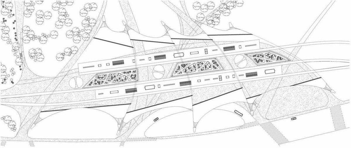 Plan at Elevated Platform Level