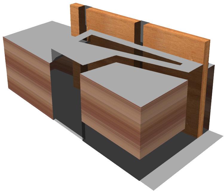 Oblique aerial view of conceptual model.