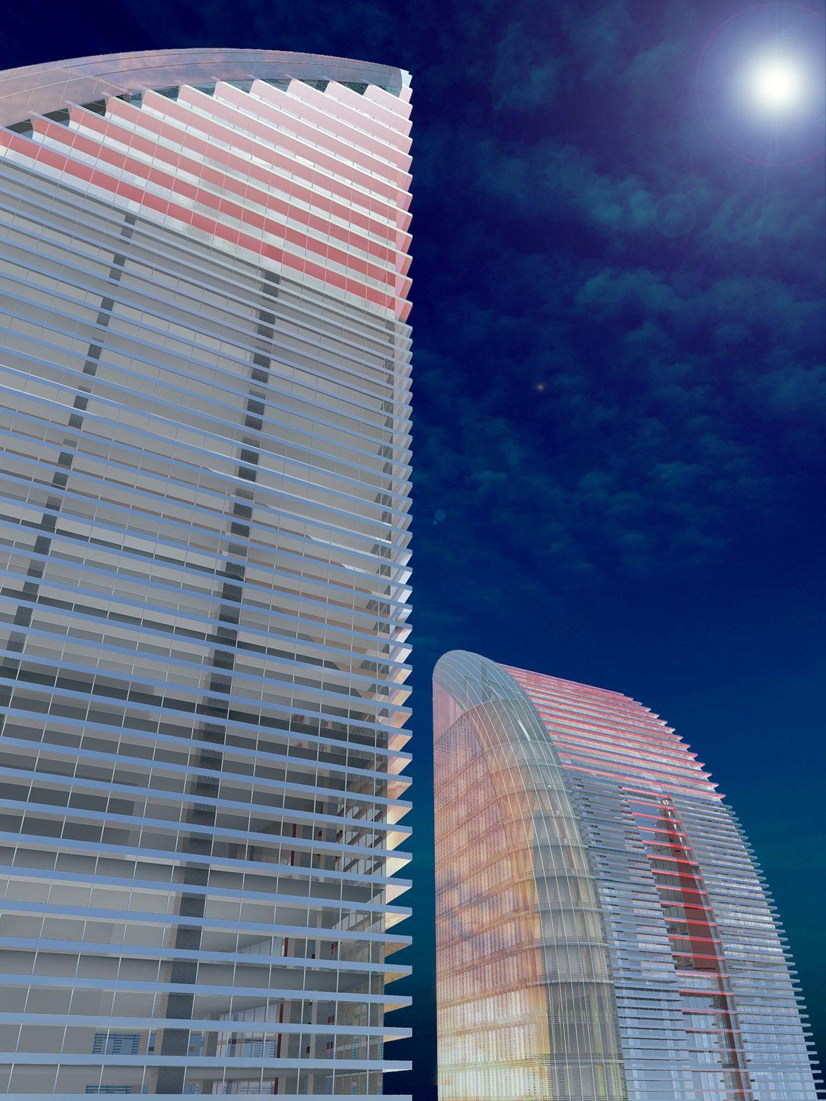 Greenland Yinchuan Super Tall Project, rendering by John Portman & Associates