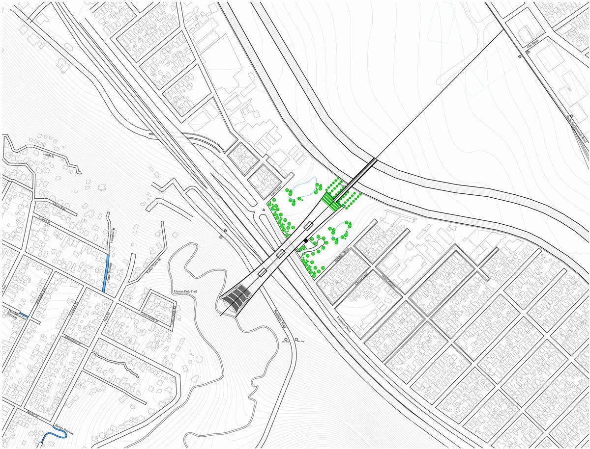 Site Plan 1:2000 ft