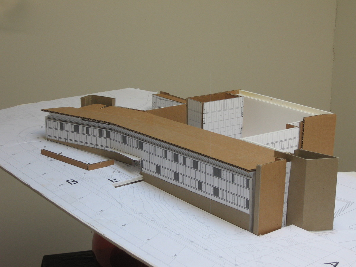 Cardboard study model