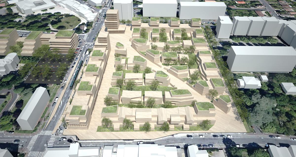 garden city le bouscat nadau lavergne architects archinect. Black Bedroom Furniture Sets. Home Design Ideas