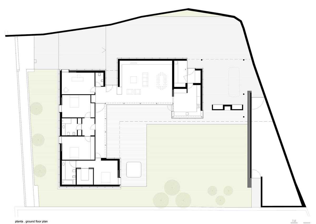 Project floor plan. Image: Arquitectos Matos