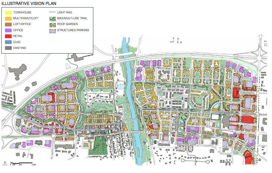 Map of Master Plan for Dublin, Ohio