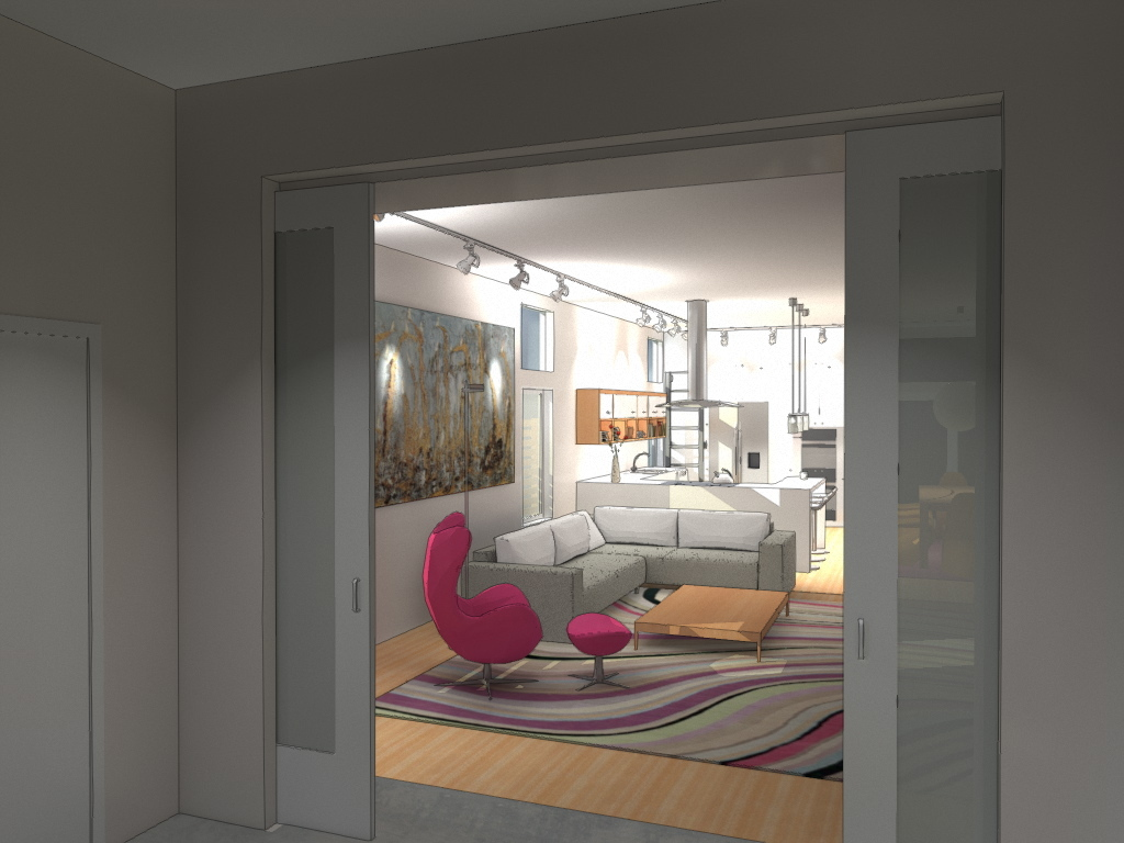 the living room seen from the foyer