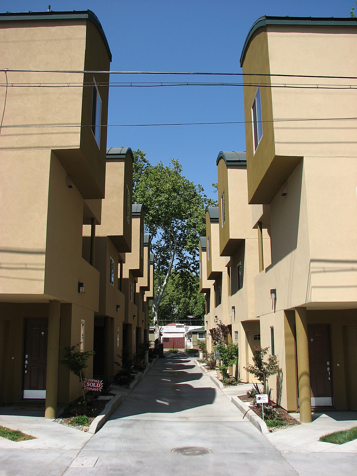 Southside Urban Villas; central alley driveway