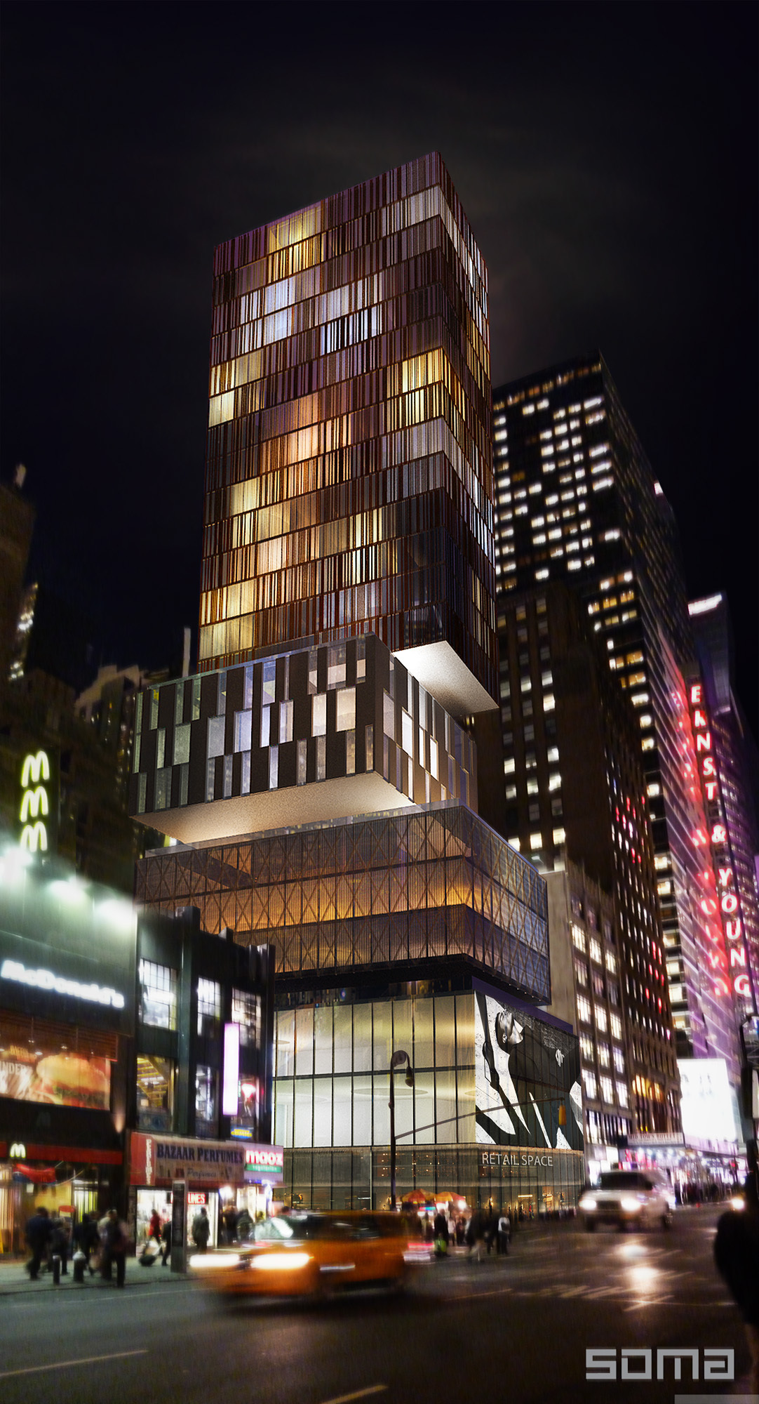 Dream hotel times square soma architects archinect for Designhotel 1690