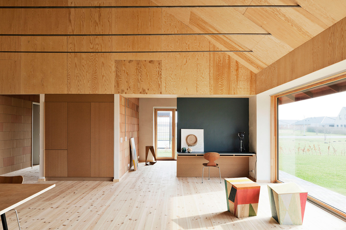 Shortlisted for Residential Building of the Year - Single Occupancy: LETH & GORI for Brick House in Nyborg, Denmark. Photo credit: STAMERS KONTOR. Courtesy of LEAF Awards.