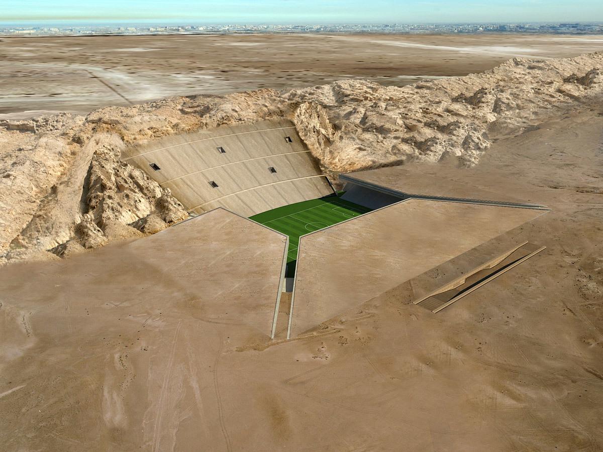 Best Future Building 2012 (joint winner): The Rock Stadium, Al Ain, UAE
