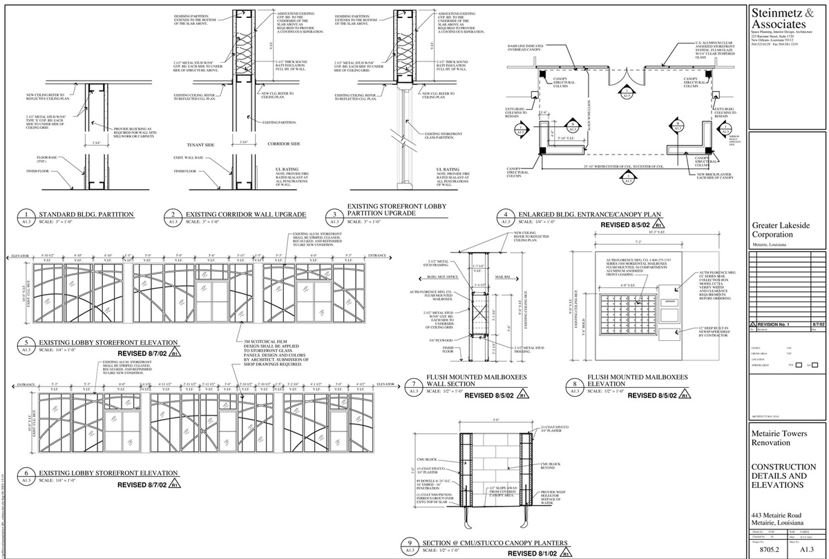 Construction Details and Interior Elevations