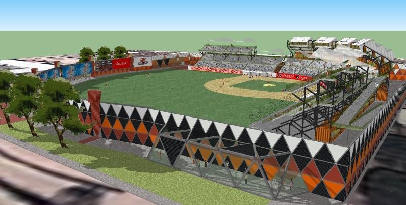 Baseball Stadium In Rosarito Mexico Vladimir Olvera