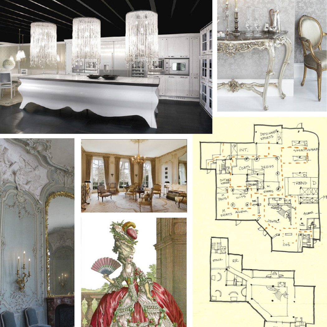 Inspirational images and schematic floor plan