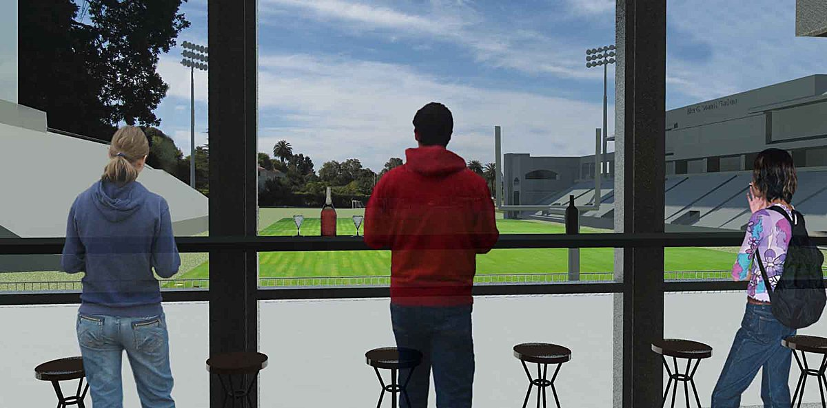 View of field from the windows