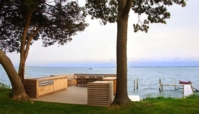 Bay View Boathouse in Bellport, NY by Martin Architects PC