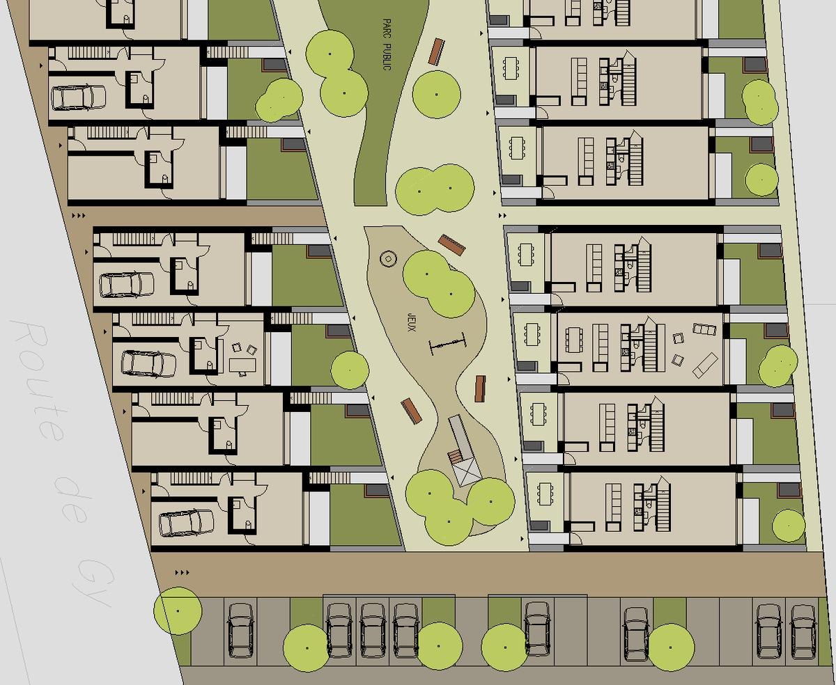 Habitations Contigues Row Houses Konrad Brynda Archinect