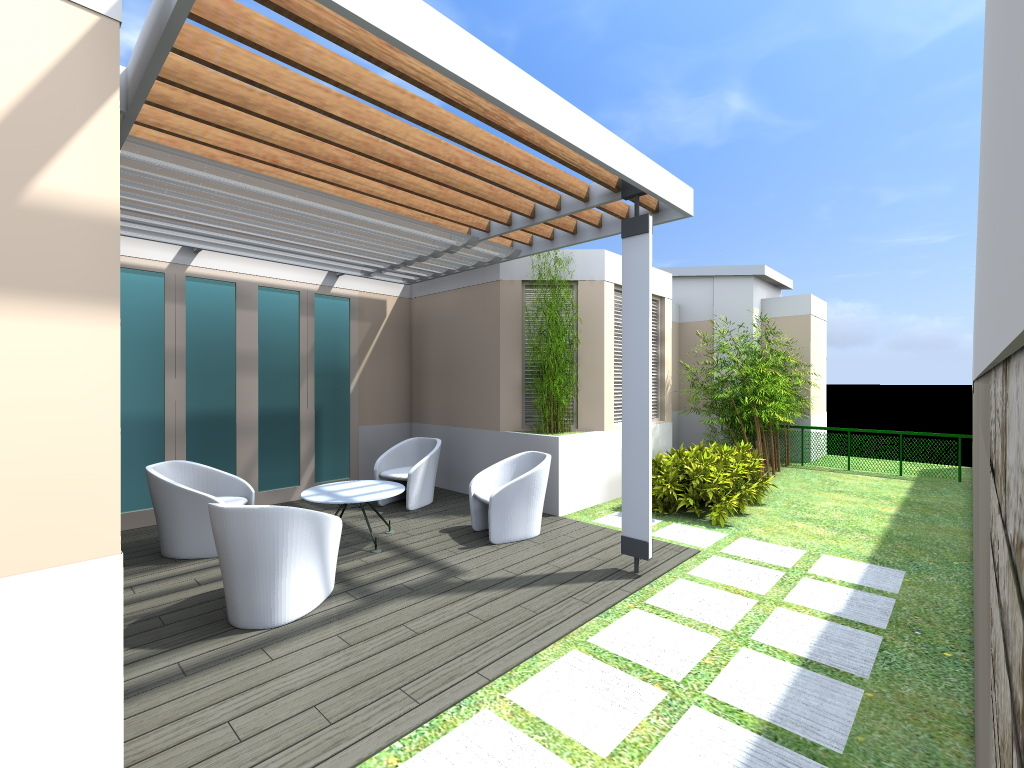 Cardona terrace trellis design gustavo o villaronga for Terrace design
