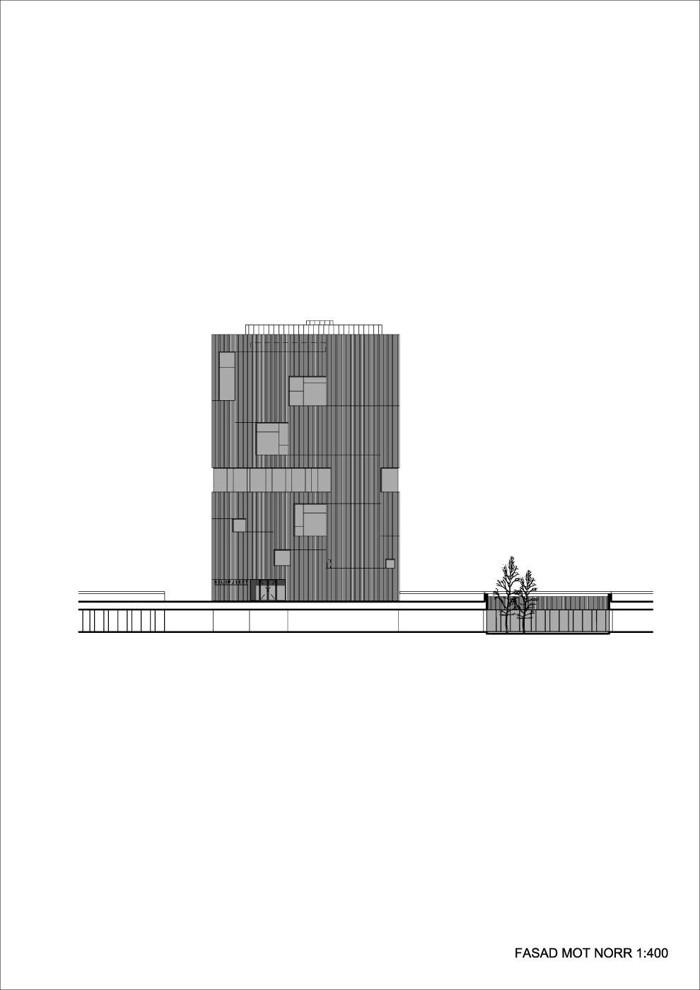 Elevation north (Illustration: Henning Larsen Architects)