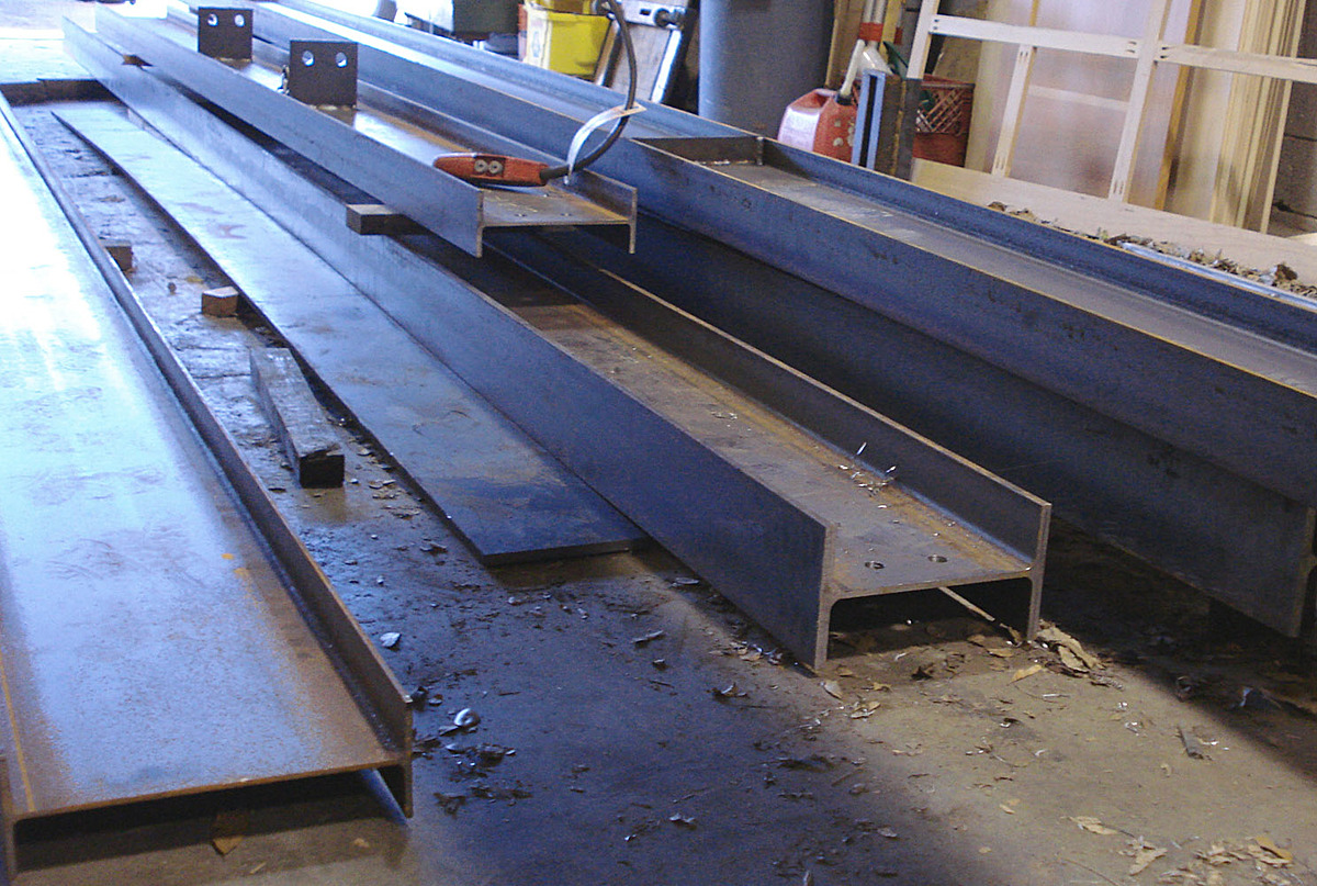 Wide flanges in process. Fabricated while working at Cottam Hargrave.