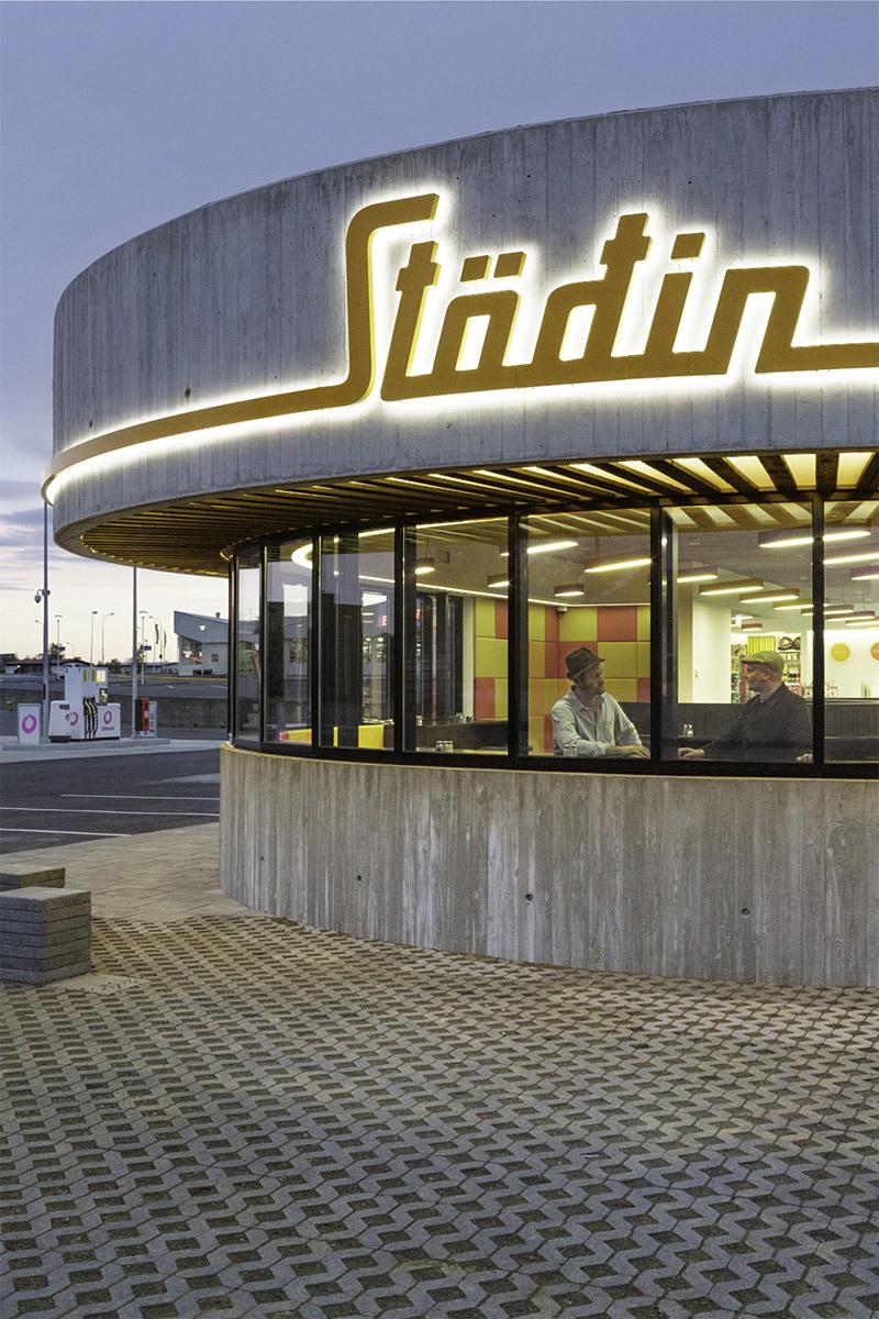 Stöðin Roadside Stop in Borgarnes, Iceland by KRADS (Photo: Kristinn Magnússon)