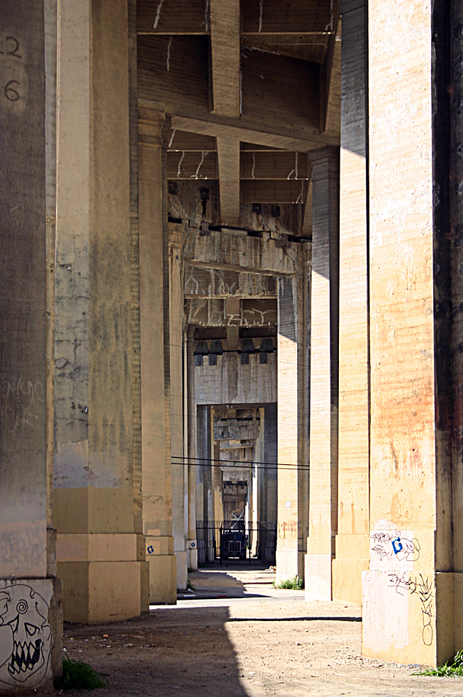 original photo: underneath the 6th Street Bridge