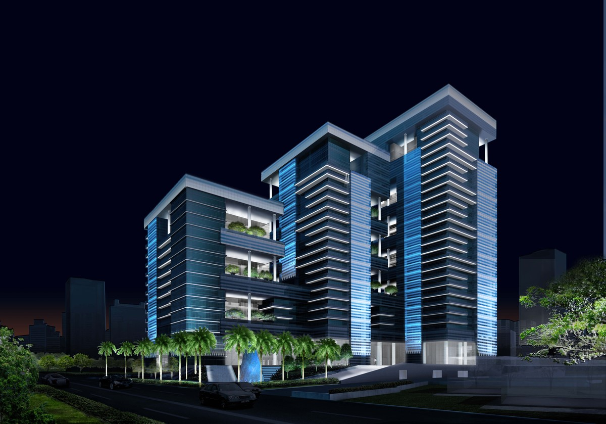 Indiabulls Finance Centre Awa Lighting Designers Archinect