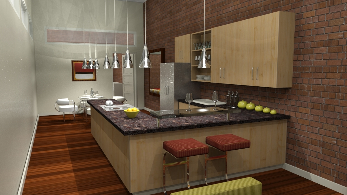 Woodlands at the Witherill Eco--village (Kitchen)