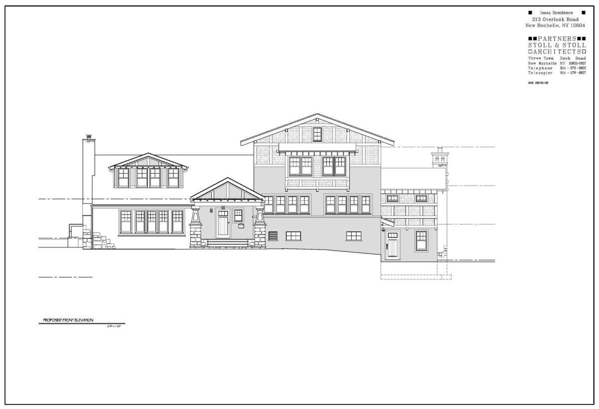 Isaac Residence Front Elevation