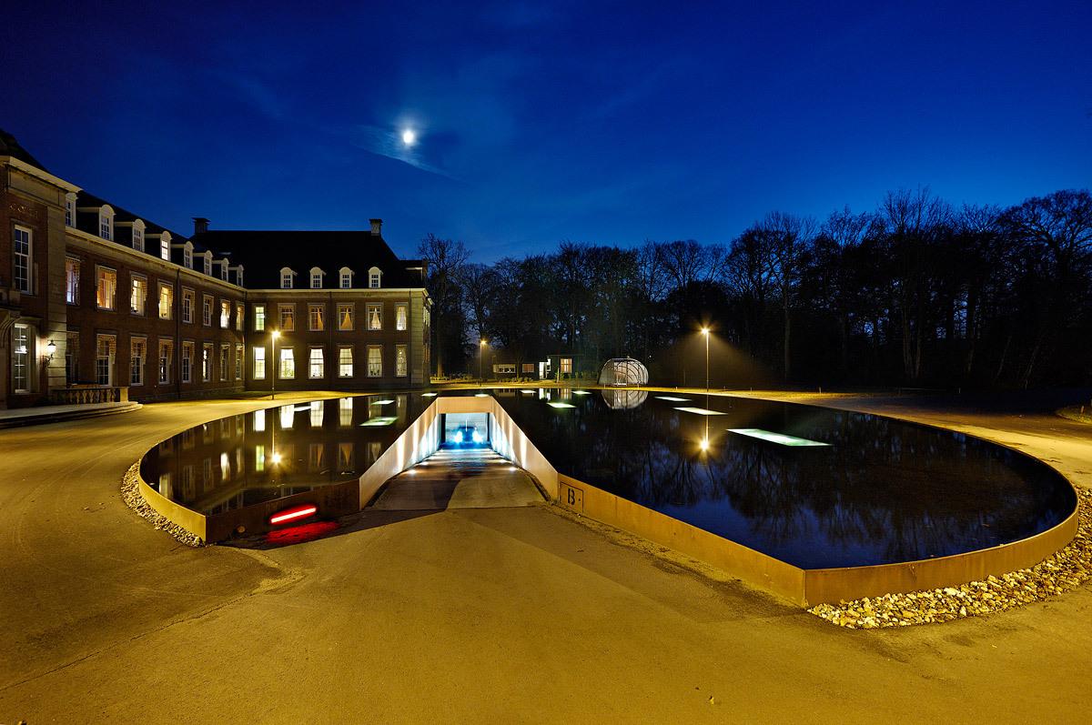 James Bond Style Pond And Parking Garage Entrance By Hosper