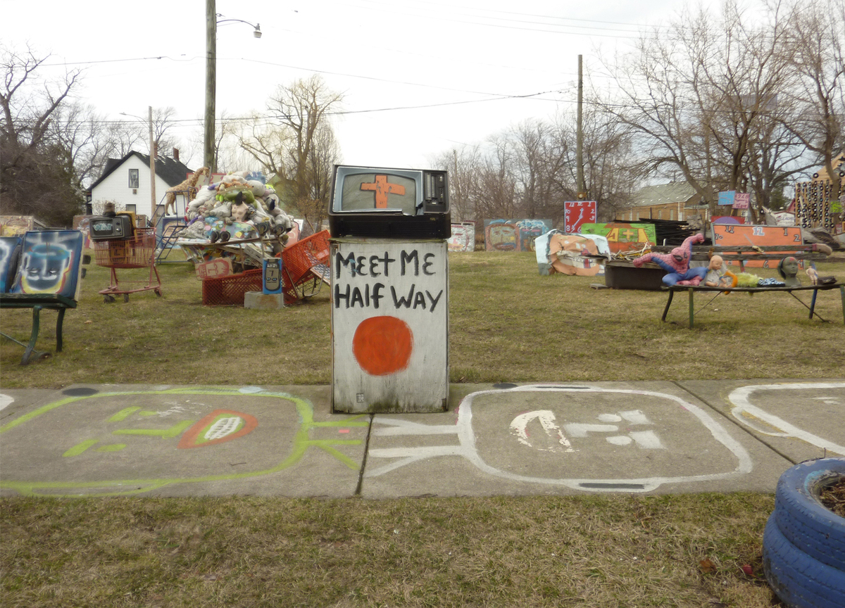 Objets Trouvés (The Heidelberg Project), (2015) by Cigdem Talu, part of the My Detroit Postcard Project for the Architectural Imagination.