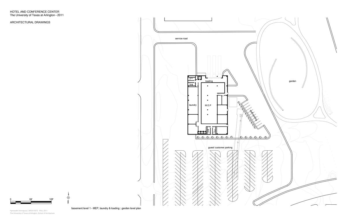 Garden-level plan